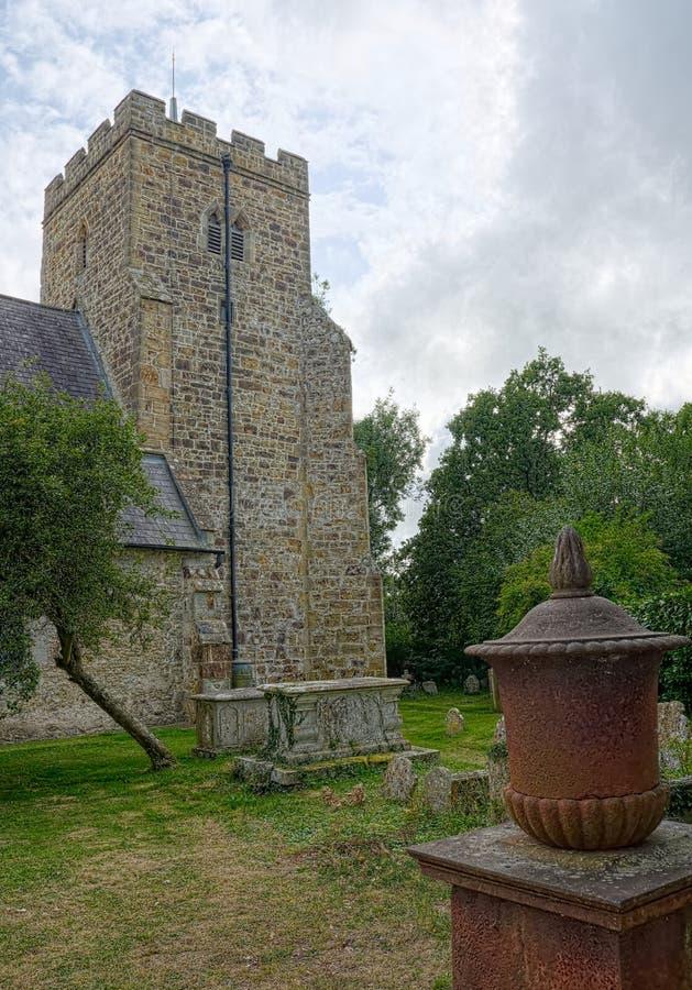 Wszystkie Saints kościół, Laughton, Sussex, UK obrazy stock