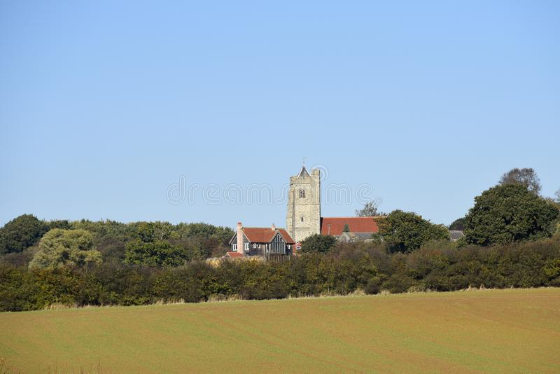 Wszystkie Saints kościół, Rettendon, Essex, UK Angielska wieś zdjęcie stock
