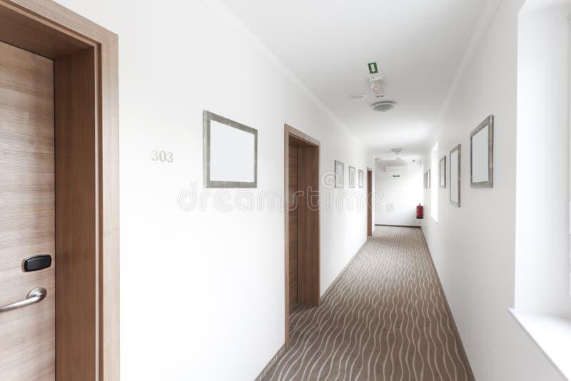 wszystkie sztuki corridore obszar korytarza wizerunku hotelu cały fous majora nadmiar ostry thechicago pracy, nieznana fotografia stock