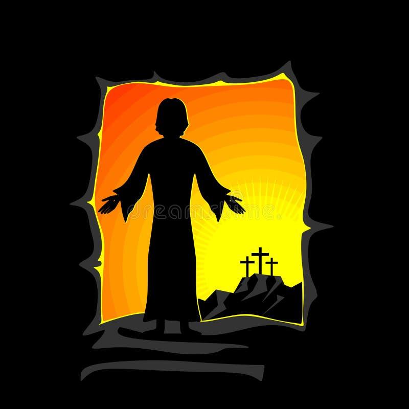 wszystkie zamknięty Easter redaguje eps8 ilustraci część możliwość Jezus Chrystus wzrasta ilustracji