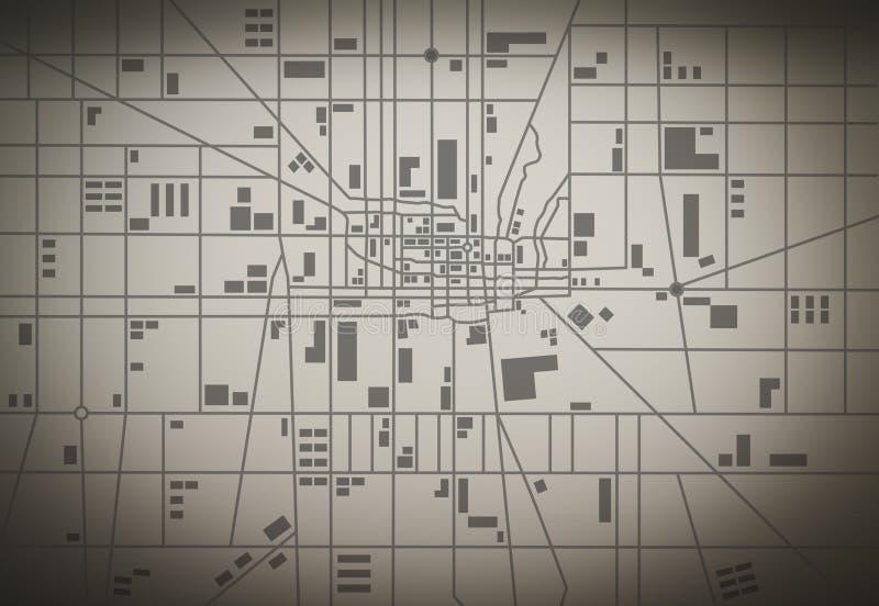 wszystkie zmiany kolorów tła miasta elementów akta łatwe kartografują select bezszwowa warstw oddzielonych próbki wektorowych royalty ilustracja