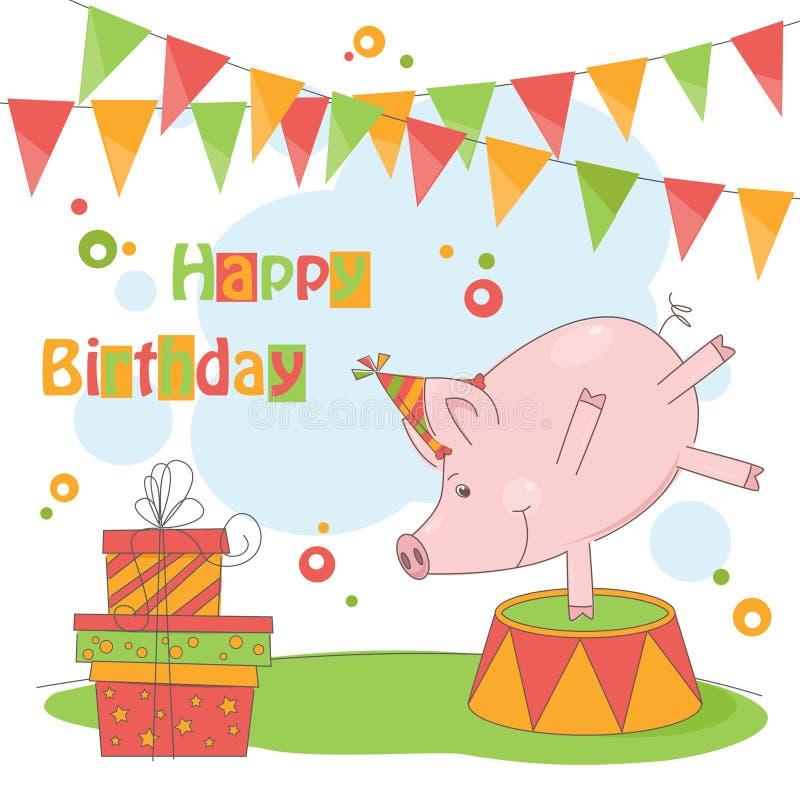 Wszystkiego Najlepszego Z Okazji Urodzin! ilustracja wektor