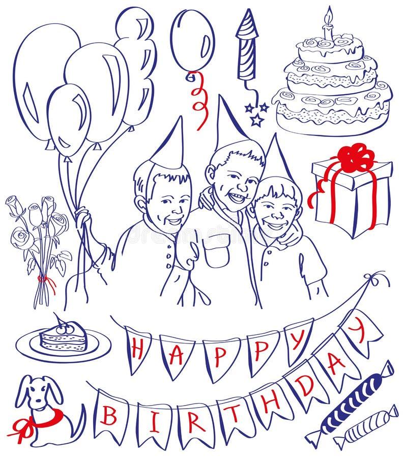 Wszystkiego najlepszego z okazji urodzin ilustracja wektor