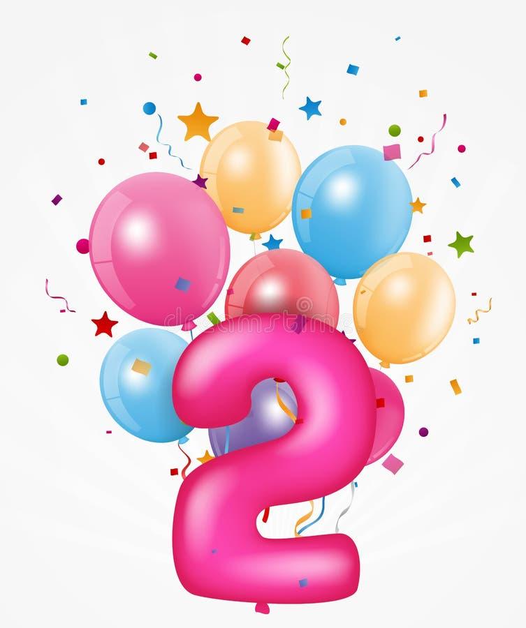 Wszystkiego Najlepszego Z Okazji Urodzin balon z liczbą ilustracji
