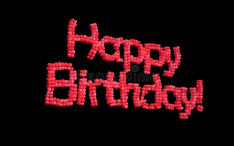 Wszystkiego Najlepszego Z Okazji Urodzin balony. ilustracji