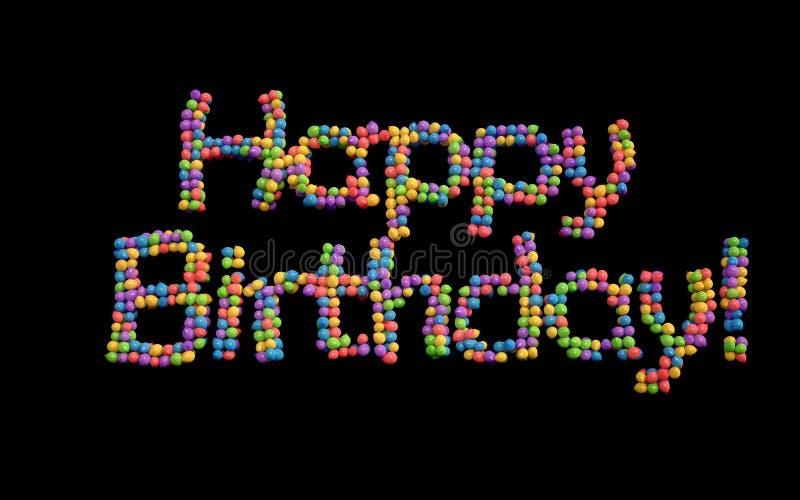 Wszystkiego Najlepszego Z Okazji Urodzin balony, multicolor. ilustracja wektor