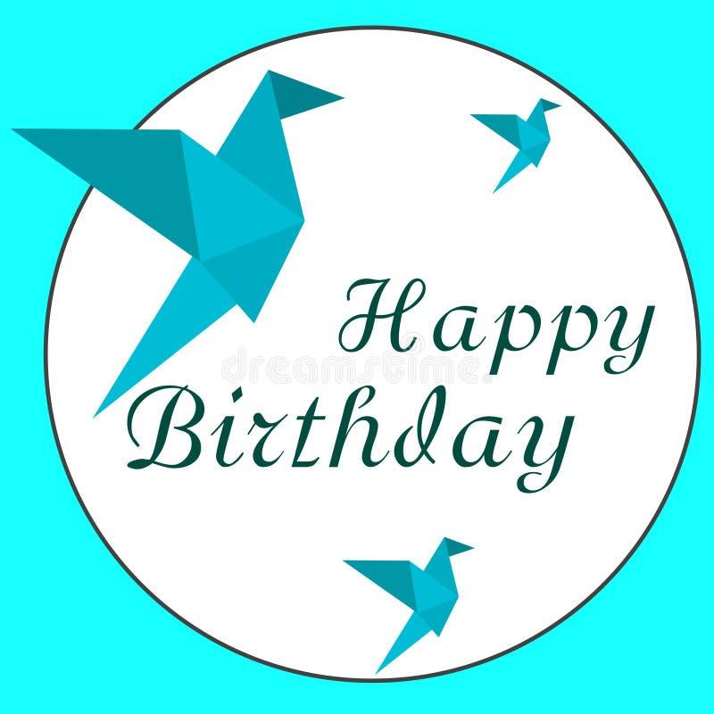 Wszystkiego najlepszego z okazji urodzin i origami zdjęcia stock
