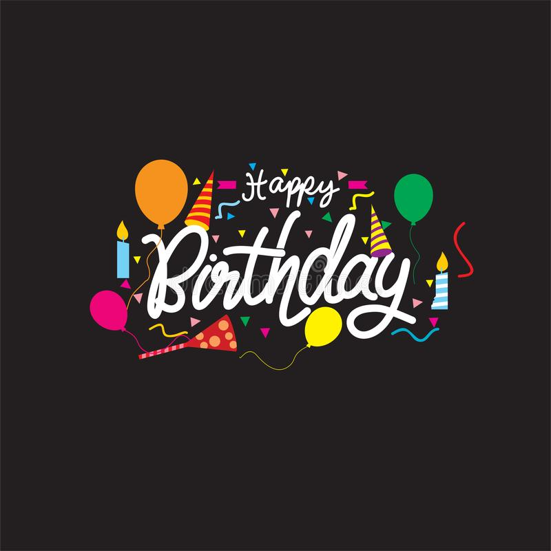 Wszystkiego najlepszego z okazji urodzin karcianego projekta wektor obrazy royalty free