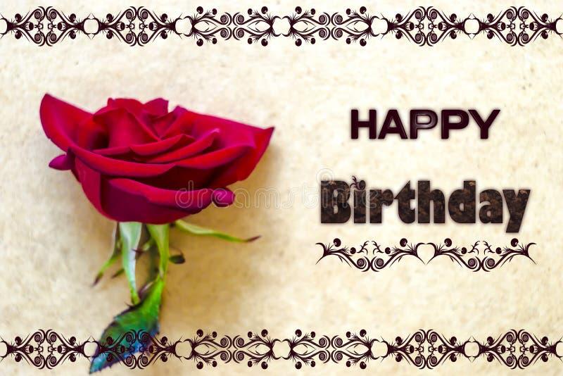 Wszystkiego najlepszego z okazji urodzin karciany foto fotografia royalty free