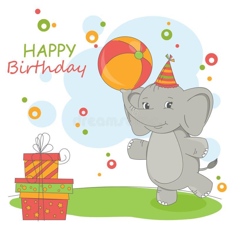 Wszystkiego Najlepszego Z Okazji Urodzin karta ilustracji