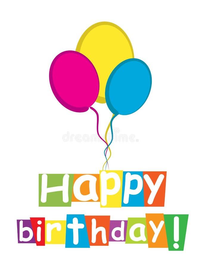 Wszystkiego najlepszego z okazji urodzin karta ilustracja wektor