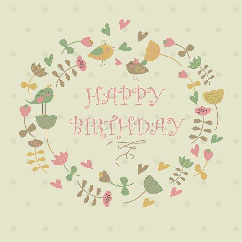 Wszystkiego najlepszego z okazji urodzin kartka z pozdrowieniami ilustracji