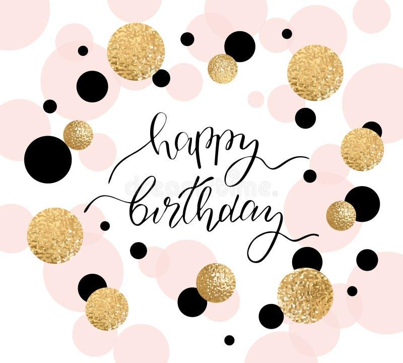 Wszystkiego najlepszego z okazji urodzin kartka z pozdrowieniami i przyjęcia zaproszenia szablon również zwrócić corel ilustracji ilustracji