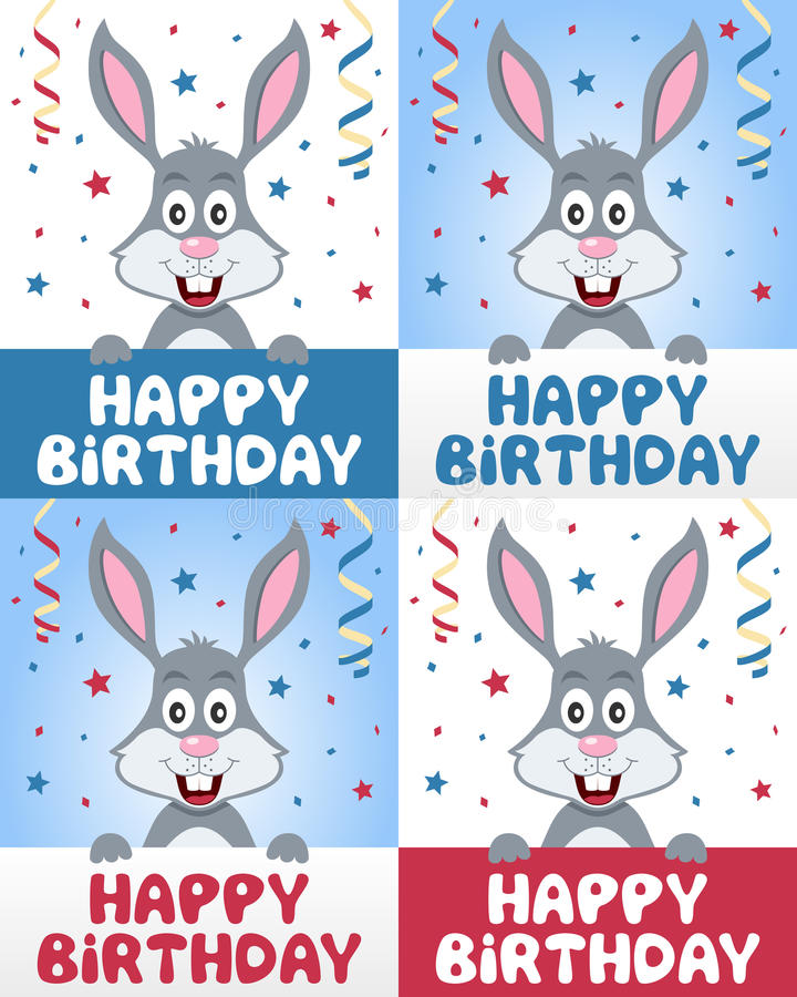 Wszystkiego Najlepszego Z Okazji Urodzin królika królik ilustracji