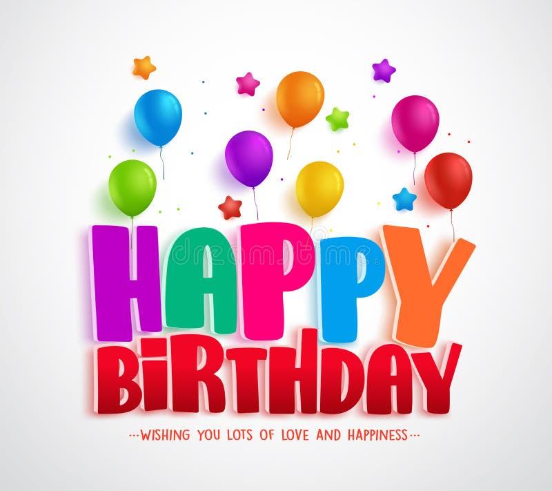 Wszystkiego najlepszego z okazji urodzin kartka z pozdrowieniami wektorowy projekt dla zaproszeń ilustracji