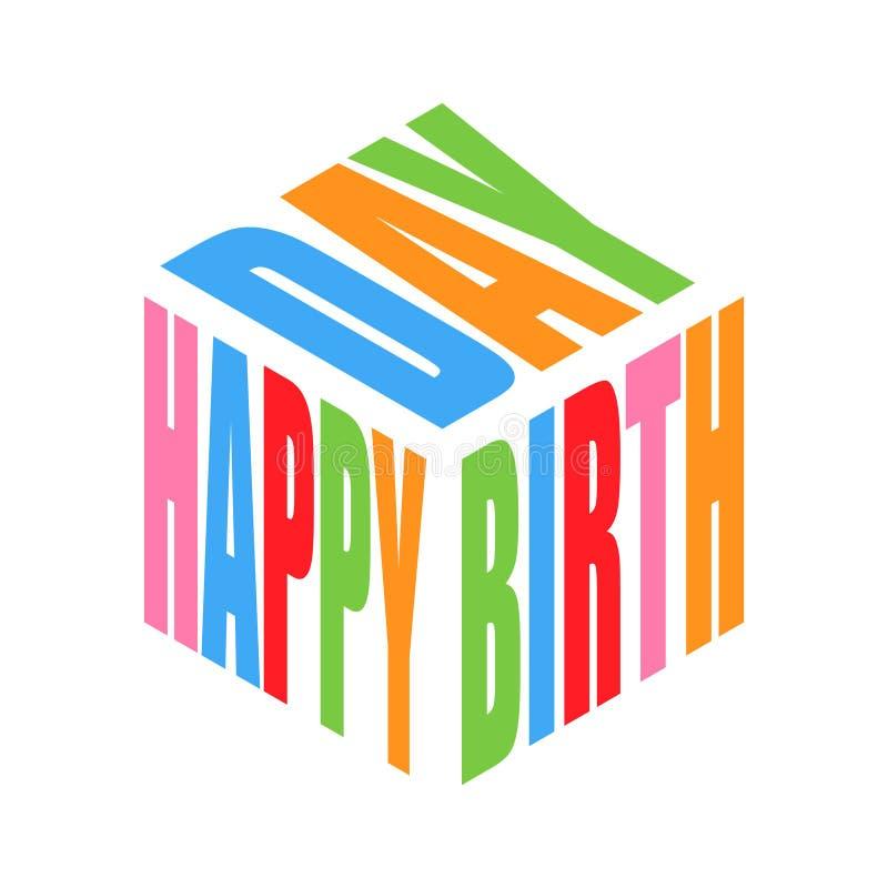 Wszystkiego najlepszego z okazji urodzin koloru teksta sloganu t prosta koszula Grafika frazuje wektor dla plakata, majcher, odzi ilustracji