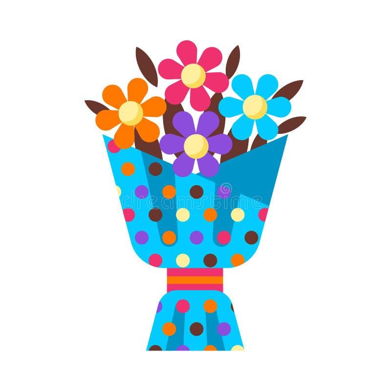 Wszystkiego Najlepszego Z Okazji Urodzin kwiatu bukieta prezent ilustracji