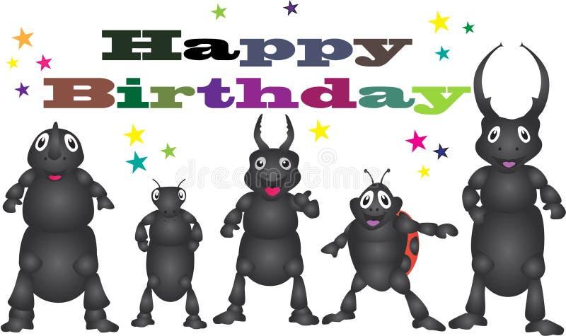 Wszystkiego najlepszego z okazji urodzin od ścigi royalty ilustracja