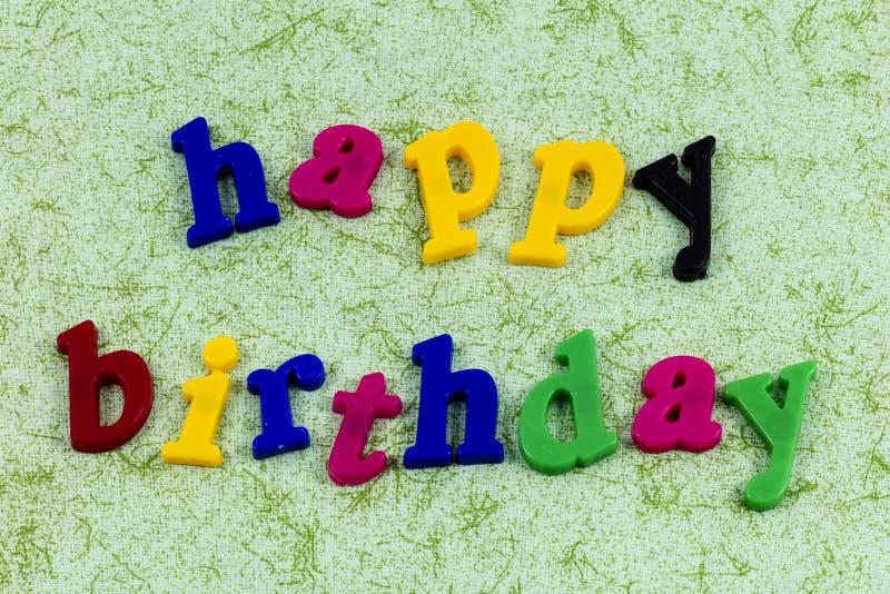 Wszystkiego najlepszego z okazji urodzin przyjęcia powitania świętowania szczęścia zabawa obraz royalty free