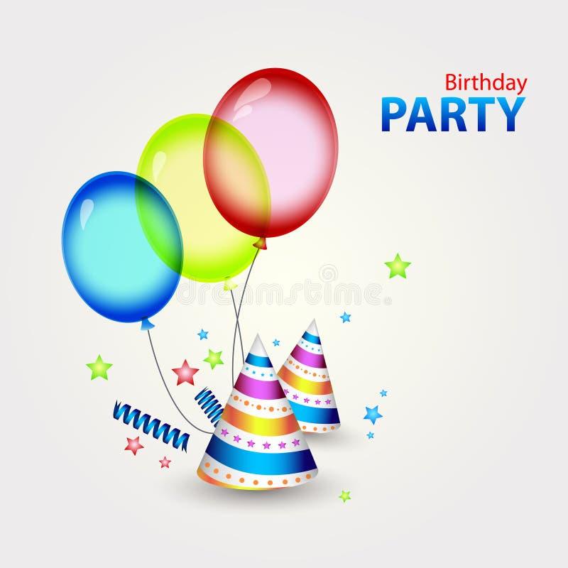 Download Wszystkiego Najlepszego Z Okazji Urodzin Przyjęcia Wystrój Ilustracja Wektor - Ilustracja złożonej z jaskrawy, butla: 28956739