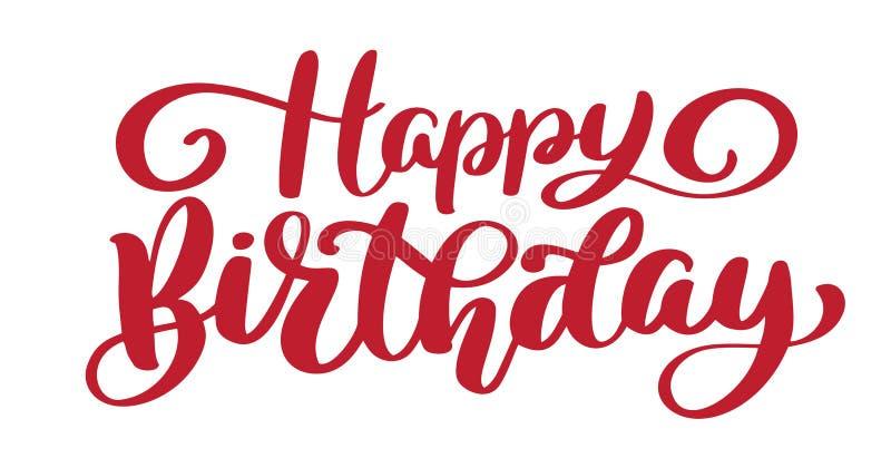 Wszystkiego Najlepszego Z Okazji Urodzin ręka rysujący tekst Modna ręki literowania wycena, mod grafika, rocznik sztuki druk dla  royalty ilustracja