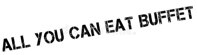 Wszystko Ty Możesz Jeść bufet pieczątkę ilustracja wektor