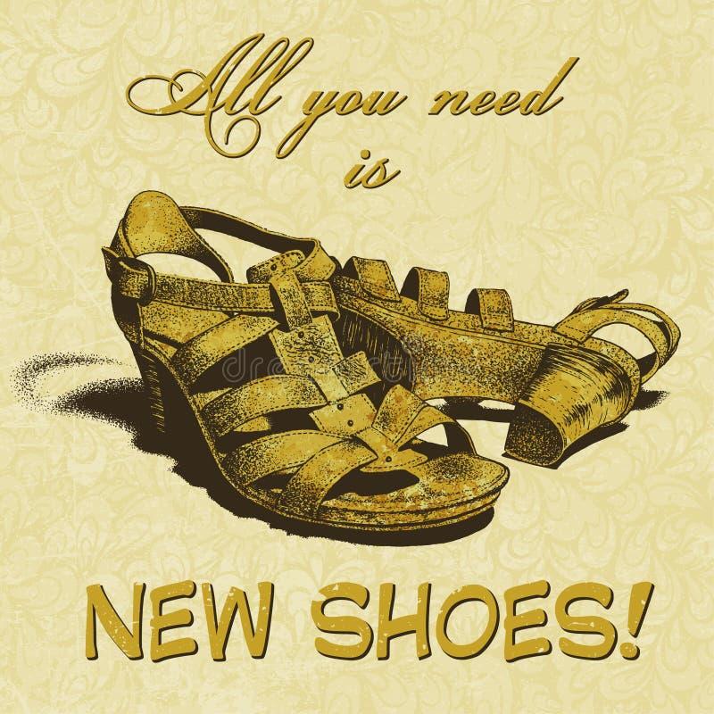 Wszystko ty potrzebujesz jest nowymi butami! obrazy stock