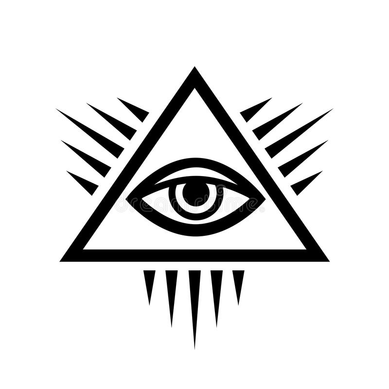 wszystkowidzący oka oko opatrzność ilustracja wektor