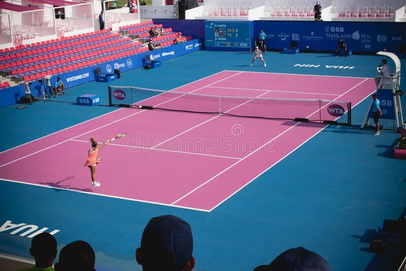 WTA 2020 Tennis Thailand Open stock images