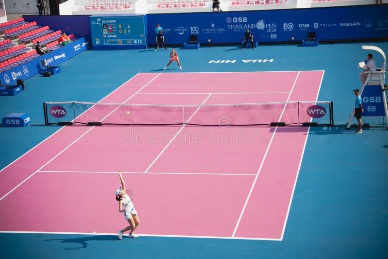 WTA 2020 Tennis Thailand Open stock photo