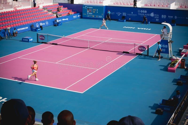 WTA 2020 Tennis Thailand Open stock photography