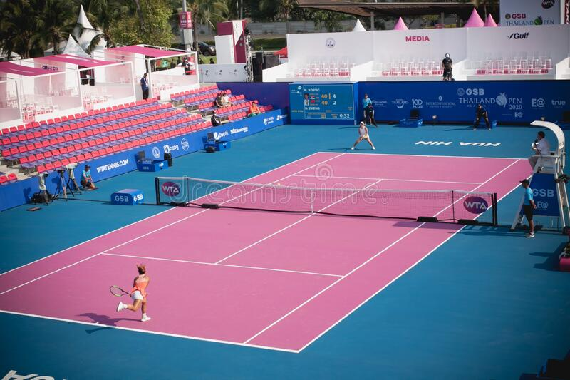 WTA 2020 Tennis Thailand Open royalty free stock photos