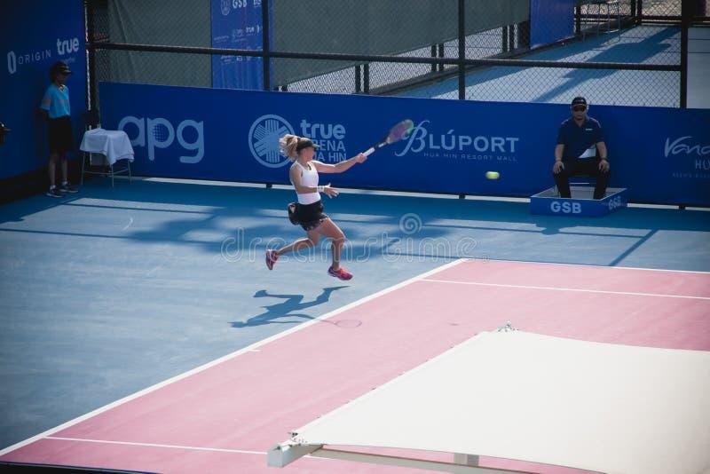 WTA 2020 Tennis Thailand Open royalty free stock image