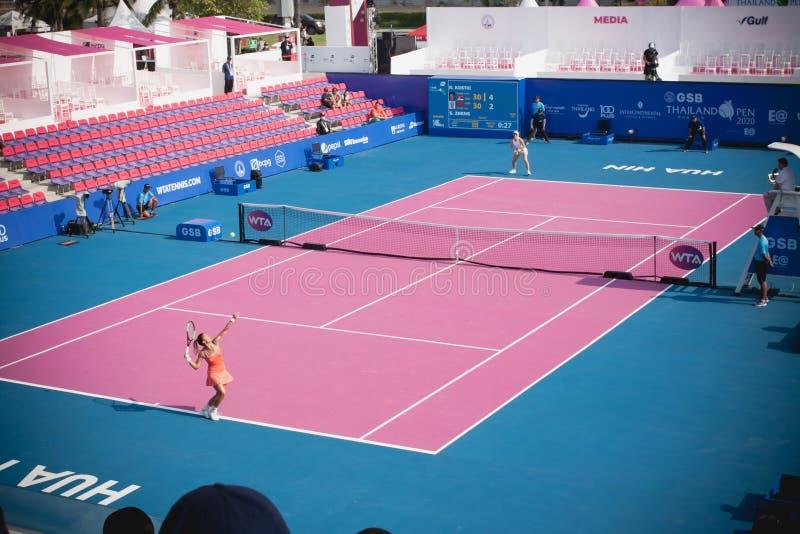 WTA 2020 Thailand Open royalty free stock photography