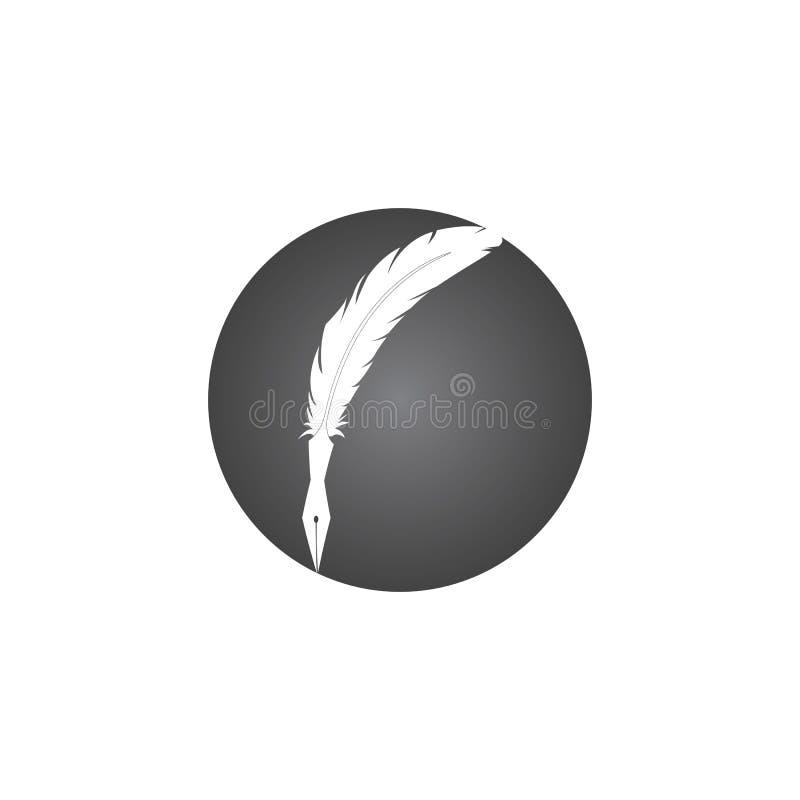 wtapianie ikon aplikacji szablonu znaku pisania pióra ilustracja wektor