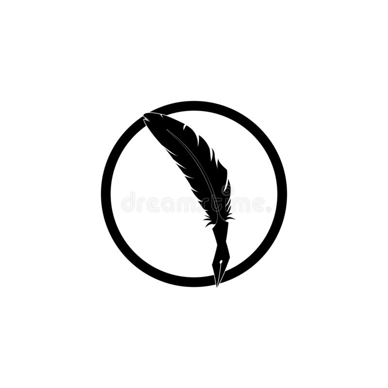 wtapianie ikon aplikacji szablonu znaku pisania pióra royalty ilustracja