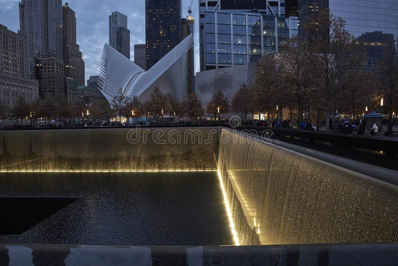 WTC, 9/11 мемориалов в Нью-Йорке стоковые изображения rf