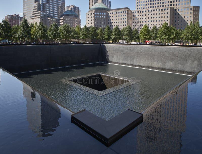 WTC, 9/11 de memorial em New York fotografia de stock