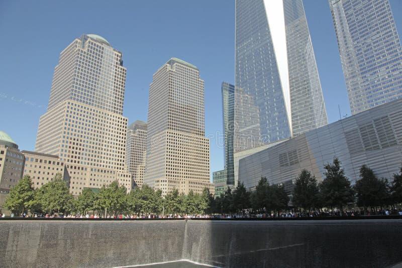 WTC, Freedom Tower und Finanzbezirk, NYC stockbild
