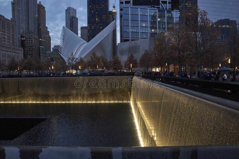 WTC, 9/11 gedenkteken in New York royalty-vrije stock afbeeldingen