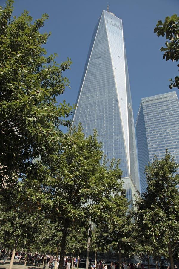 WTC, Gemalen Freedom Tower, Nul stock afbeelding