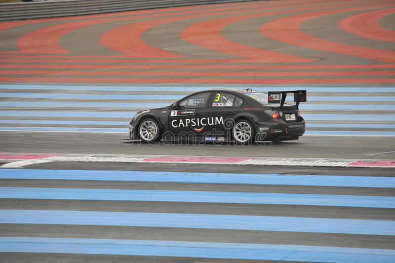 WTCC Francia 2014 imagen de archivo