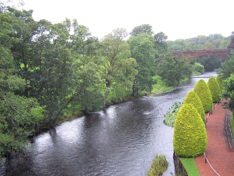 Wter way of Brig o` Doon and Kirk, Ayrshire stock photo royalty free stock images