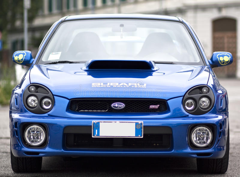 WTI do impreza de Subaru imagens de stock royalty free