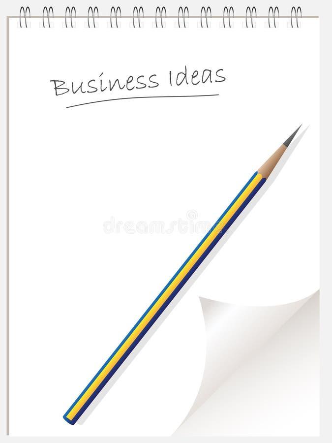 wti för anteckningsbok för affärsidélista vektor illustrationer