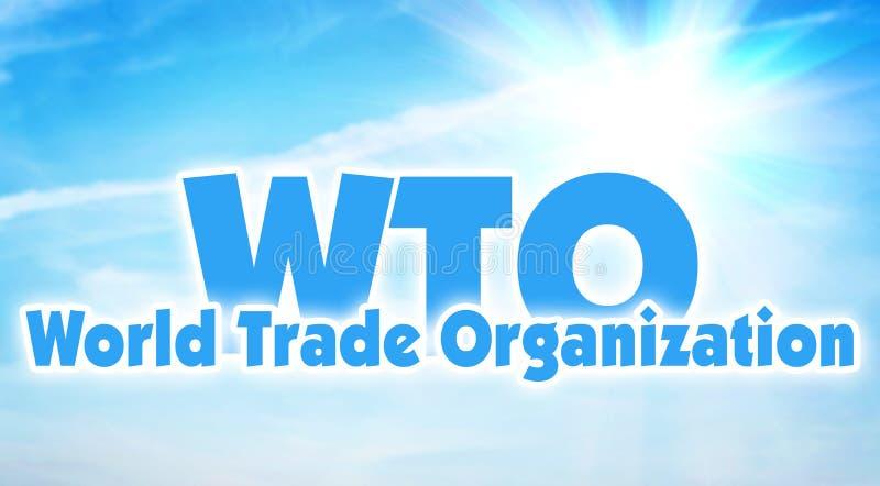 WTO, Organização Mundial de Comércio União econômica global dos estados imagens de stock