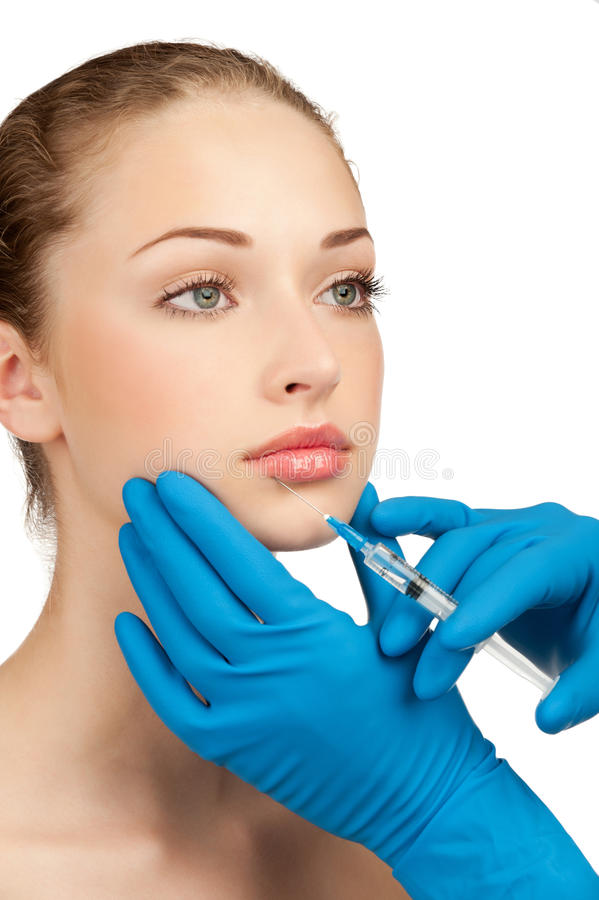 WTRYSKOWE Botox® wargi fotografia royalty free