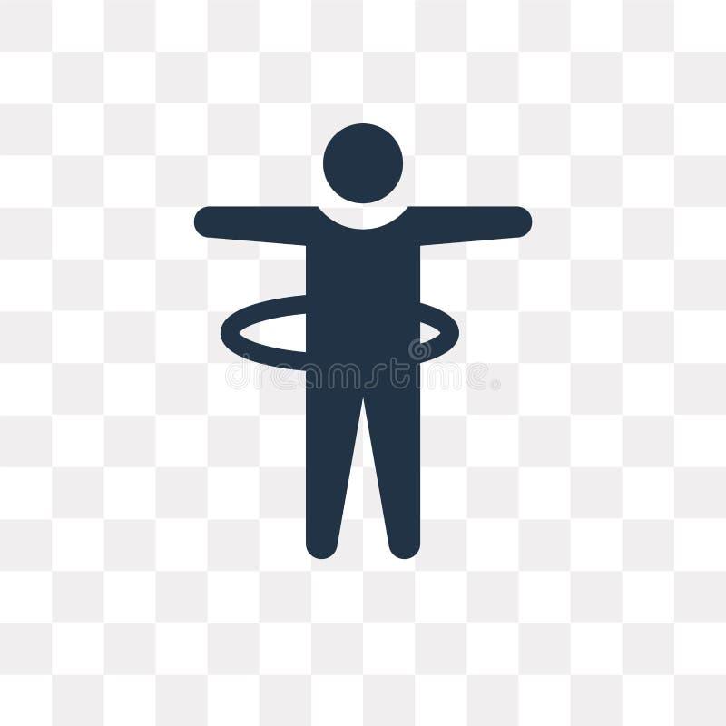 Wtyka mężczyzna obręcza wektorową ikonę odizolowywającą na przejrzystym tle, S ilustracja wektor