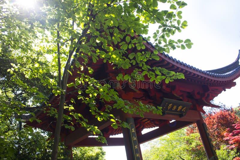 Wu berg, Westlake, Hangzhou, Kina royaltyfria bilder