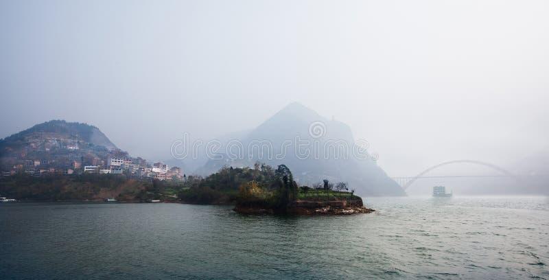 Wu klyfta av Kina Chongqing royaltyfri bild